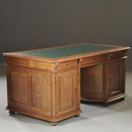 Antieke bureaus / Hollands bureau ca. 1880 met draaibare kast en afneembaar rekje (No. 451831)