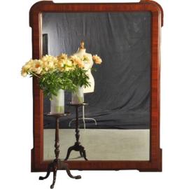 Antieke spiegels /  Zeer grote spiegel voor op de schouw óf gewoon op de vloer, mahonie ca. 1860 152X215 (No.221833)