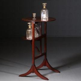 Antieke bijzettafels / wijntafels / Ronde bijzettafel met inklapbare bladen ca. 1850 in mahonie  (No.571036)