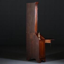 Antieke bureaus / Engelse hoekkast / hoeksecretaire / buro-bookcase ca. 1875 in mahonie (No.401743)