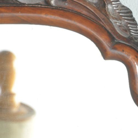 Antieke spiegels / Kleine mahonie Soester spiegel ca. 1820 met afneembaar kroontje (No.521403)
