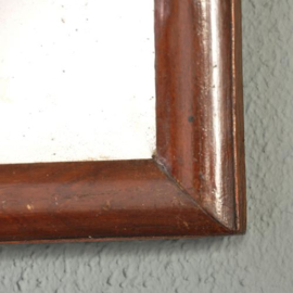 Antieke spiegels / Soester spiegel ca. 1790 met facet en afmeembare kroon (No.2721663)