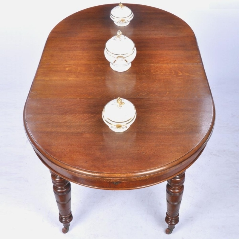 Antieke Eiken Engelse Tafel.Antieke Tafels Engelse Eikenhouten Wind Out Table Met 2