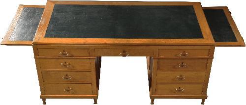 Groot Antiek Bureau.Antieke Bureaus Groot Frans Blond Eikenhouten Bureau Jaren