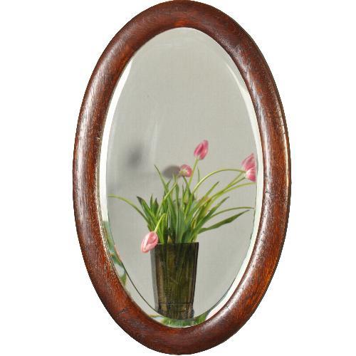 Oude Spiegel Zonder Lijst.Antieke Spiegels Engelse Ovale Houten Lijst Met Facet