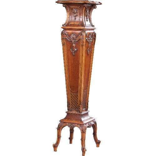 Antieke bijzettafels / Franse gueridon piedestal in notenhout ca. 1890 (No.631711)