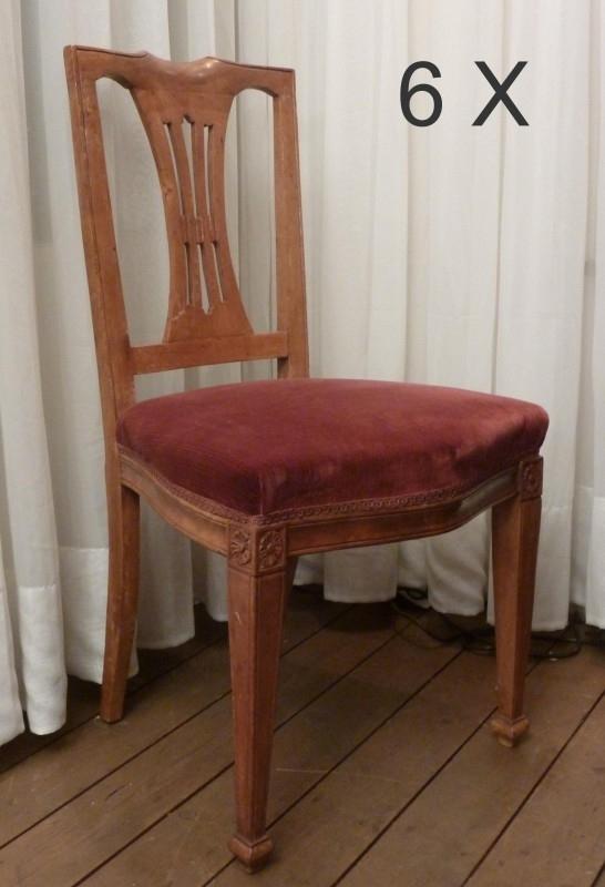Set 6 Eetkamerstoelen.Antieke Stoelen Set Van 6 Eetkamerstoelen Ca 1920 Kersenhout