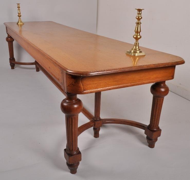 Ongebruikt Antieke tafels / Lange smalle eikenhouten tafel ca. 1870 3 m. X 0 EY-58