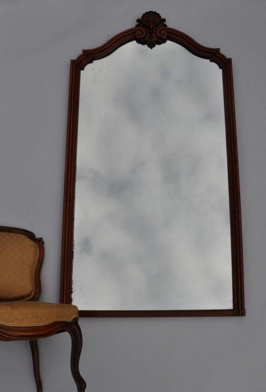 Oude Spiegel Zonder Lijst.Antieke Spiegels Grote Schouwspiegel Mahonie Lijst 1 93 X