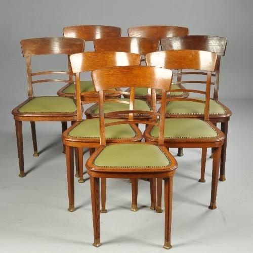 Art Deco Kuipstoelen.Antieke Stoelen Stel Van 8 Art Deo Stoelen Eetkamerstoelen Art