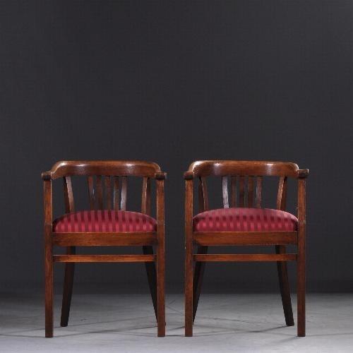 2 Antieke Fauteuils.Antieke Stoelen Stel Van 2 Bureaustoelen Armstoelen Ca