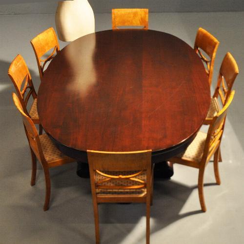 8 Persoons Eetkamer Tafel.Antieke Tafels Grote Art Deco Ovale Eetkamertafel Voor 8 Tot 10