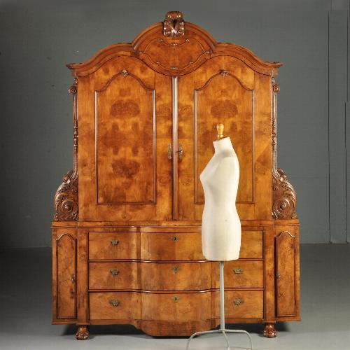 Antieke Kasten Uitzonderlijk Hollands Barok 4 Deurs