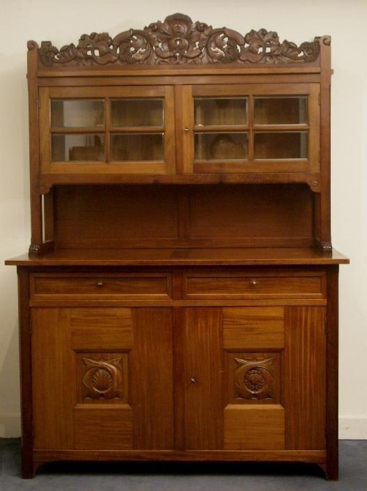 Art Nouveau Meubels Antiek.Antieke Kasten Hollands Art Nouveau Buffet Ca 1900