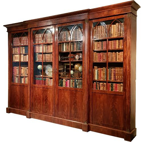 Antieke kasten / Monumentale bibliotheekkast / boekenkast 4 meter breed ca. 1820  (No-258034)