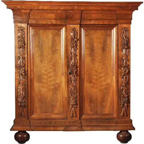 Antieke kasten / Palissander Drentse Pastoorskast ca. 1700 in een fenomenale kleur (No.511858)