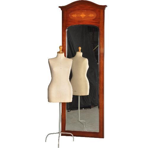 Antieke spiegels / passpiegel / Reusachtige Franse mahonie schouwspiegel  ca.  1930 (No340441)*