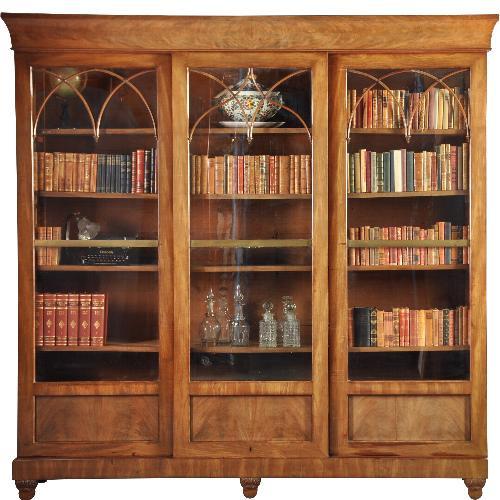 Antieke Kasten Hollandse Biedermeier Boekenkast