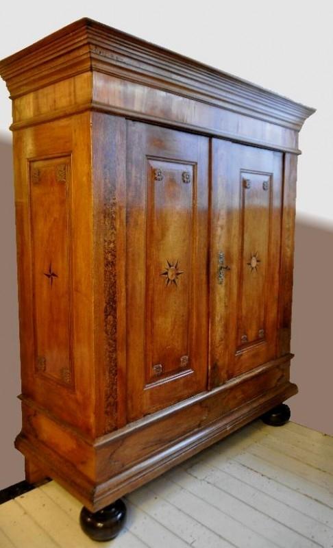 Antieke Kasten Duitse Kast Periode 1700 1750 Ingelegd Met