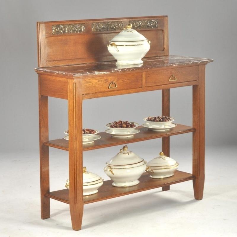 Sidetable Met Marmer.Antieke Kasten Frans Art Deco Dessermeubel Sidetable In