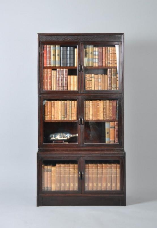 Engelse Boekenkast Glas.Antieke Kasten Engelse Mahonie Boekenkast Ca 1900 86551