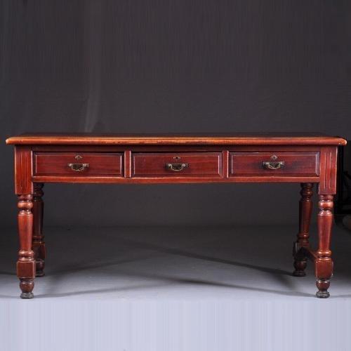 Antieke tafels/ werktafel / schrijftafel china 1850 - 1900 met 6 laden doorleefde kleur (No-8822908)
