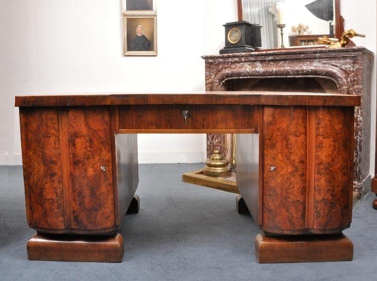 Groot Antiek Bureau.Antieke Bureaus Groot Art Deco Bureau In Wortelnoten Duits