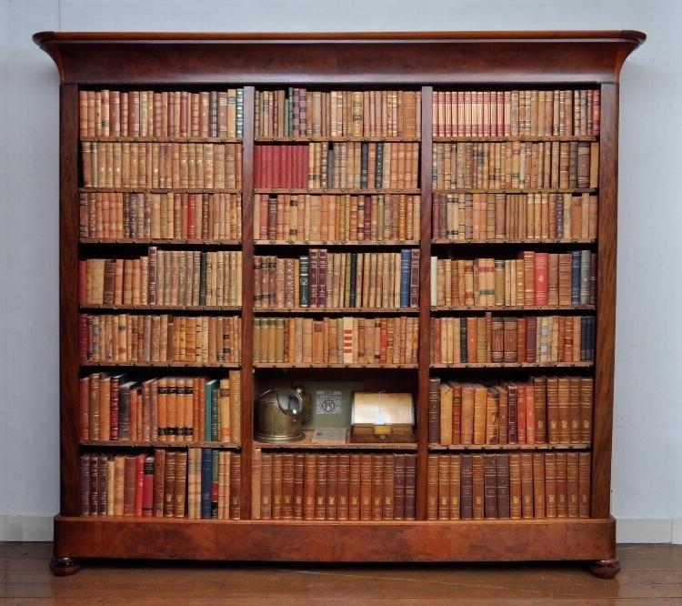 Antieke Kasten Boekenkast Bibliotheekkast In Mahonie Ca