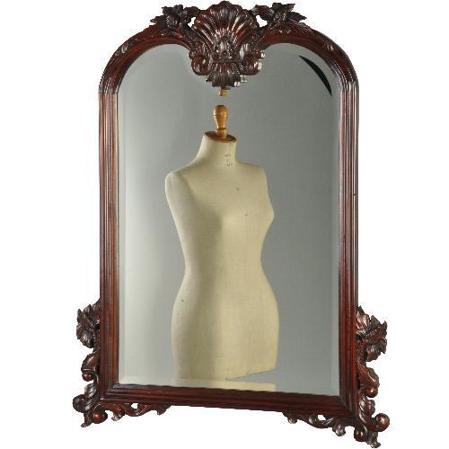 Antieke spiegels / Engelse schouwspiegel ca. 1875 met uitzonderlijk fraai geslepen glas (No.321813)