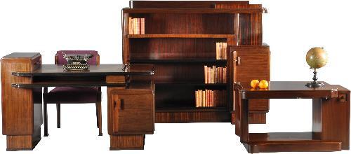 Antieke Bureau Boekenkast.Antieke Bureaus Art Deco Kamer 4 Delig Bureau Boekenkast