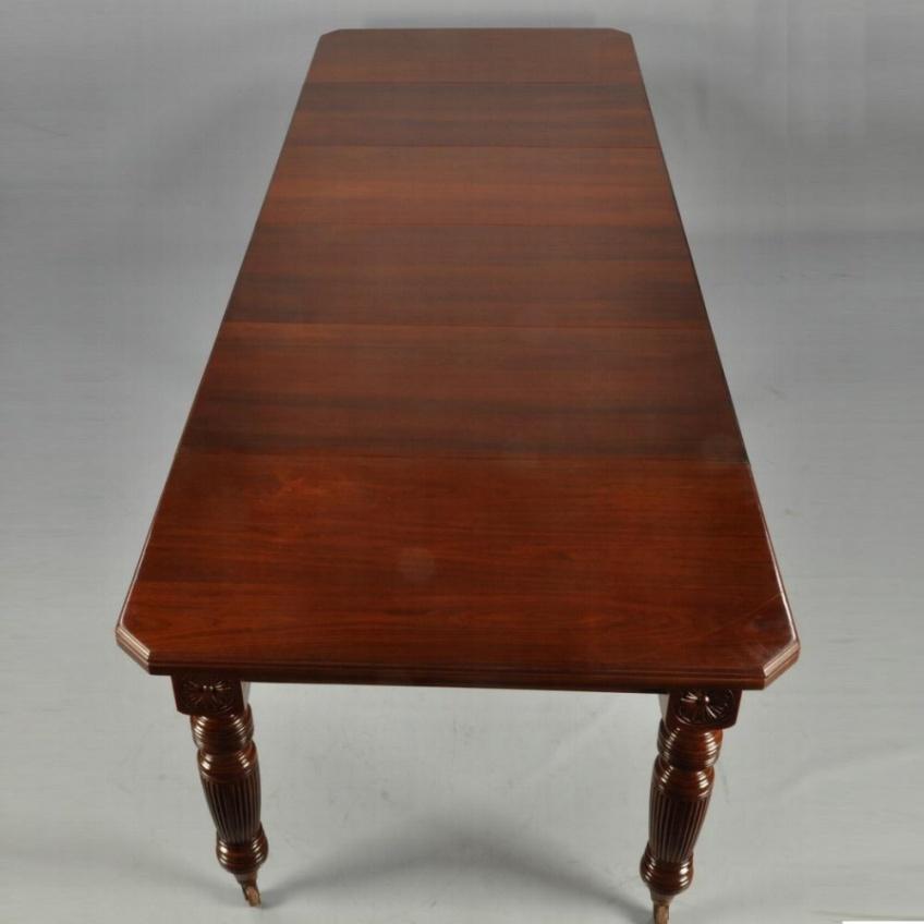 Antieke Uitschuifbare Eettafel.Antieke Tafels Engelse Coulissentafel Ca 1875 Met 4