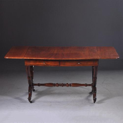 Antieke Hollandse mahonie schrijftafel