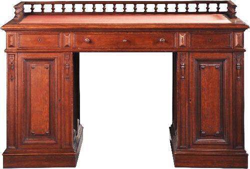 Antiek bureau voor lange mensen met lange benen