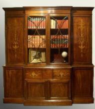 antieke boekenkast breakfront