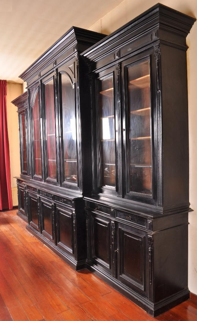 antieke grote boekenkast 5m breed