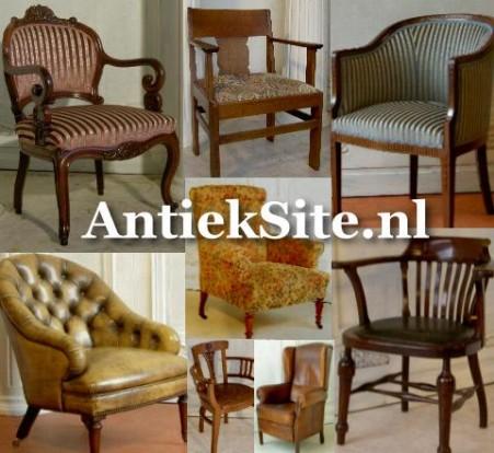 antieke fauteuil en armstoel