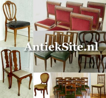 antieke stoel, stoelen, eetkamerstoelen