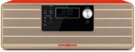 Nordmende Transita 320 DAB+ en FM stereo radio met CD-speler en Bluetooth, rood