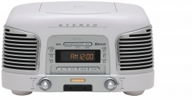 Teac SL-D930 retro 2.1 geluidssysteem met CD, radio en Bluetooth, wit
