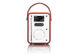 Lenco PDR-050 - draagbare DAB+/ FM radio met bluetooth en analoge ingang, rood