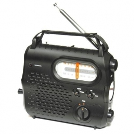 POWERplus Rhino opwindbare AM / FM radio met lamp