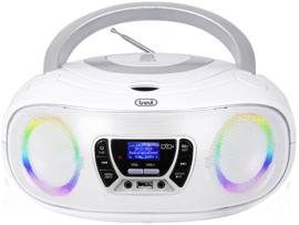 Trevi CMP 583 draagbare disco radio met DAB+, FM, en CD speler, wit