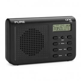 Pure One Mi - mini digitale radio met DAB+ en FM - zwart