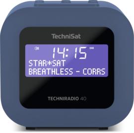 TechniSat Techniradio 40 wekker radio met DAB+ en FM, blauwgrijs