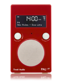 Tivoli Audio Model PAL+ BT oplaadbare radio met DAB+, FM en Bluetooth, rood-wit