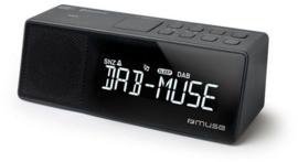Muse M-172 DBT DAB+ en FM wekker klokradio met Bluetooth ontvangst