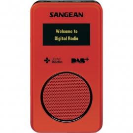 Sangean DPR-36 pocketradio met DAB+ / FM en SD recording, rood