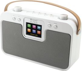 Soundmaster Elite Line IR4400WE stereo draagbare internetradio met DAB+ en Bluetooth, wit