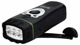 POWERplus Wolf opwindbare FM radio met LED lamp