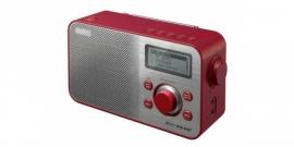Sony XDR-S60 compacte retrostijl radio met FM en DAB+, in rood